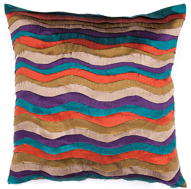 Decorative Pillows Blue And Orange : Orange And Blue Decorative Pillows