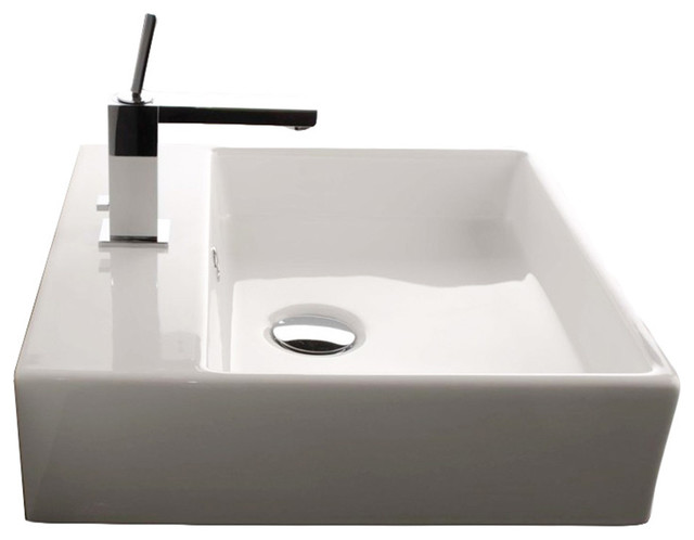 18 Ada Compliant Ceramic Wall Mounted Vessel Bathroom Sink Contemporary Bathroom Sinks