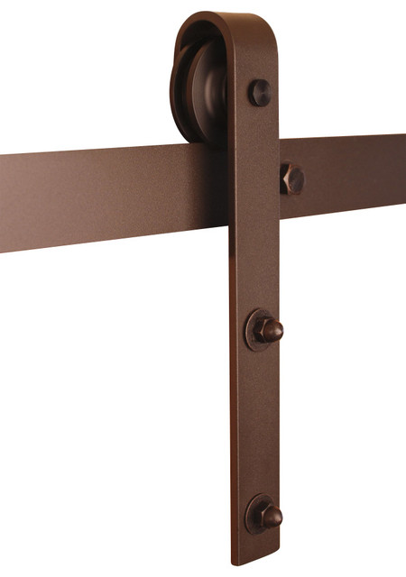 Classic barn door hardware kit bronze 5ft track for 30 - Quincaillerie porte de grange ...