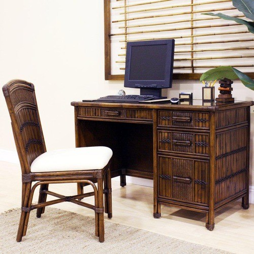 Polynesian Computer Desk with Chair - Modern - Home Office Accessories