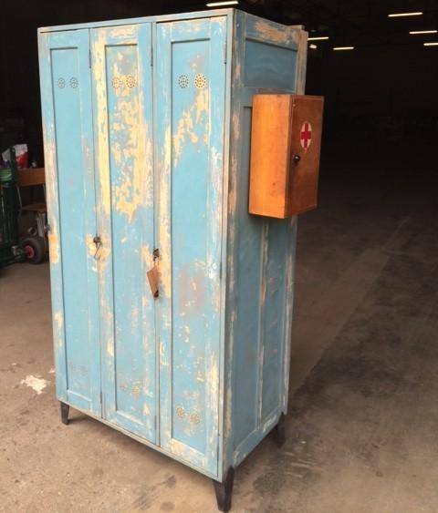 Vintage spind aus holz industrial armarios de - Armarios para almacenaje ...