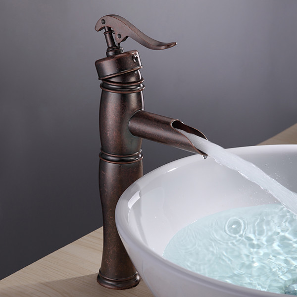 Antique Copper Finish Bathroom Sink Faucet With Vintage Centerset Faucetsdeal C Traditional