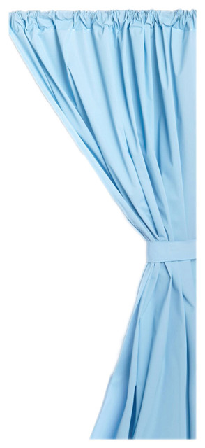 Carnation Home Fashions Vinyl Bathroom Window Curtain Light Blue Traditional Curtains By
