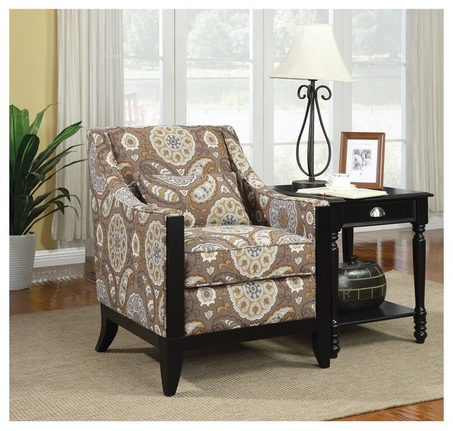 Coaster Accent Chair Country Paisley Modern Living Room Chairs By