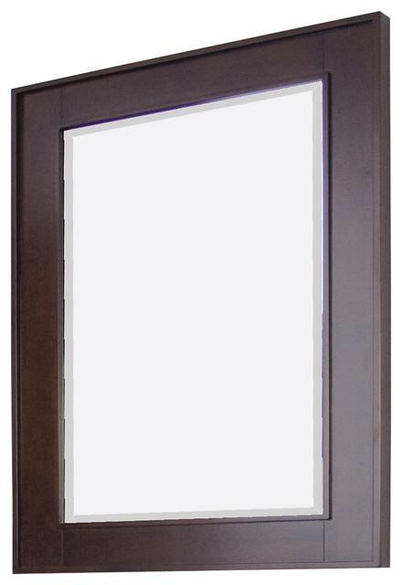 Elegant Purus Mirror 30quot Dark Walnut  Transitional  Bathroom Mirrors  By