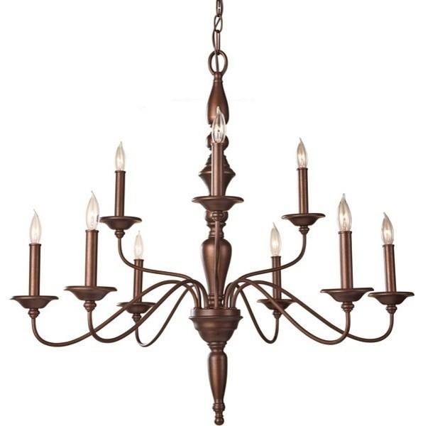 Murray Feiss Chandelier 6 Light: Murray Feiss Yorktown Heights 9 Light Prescott Bronze