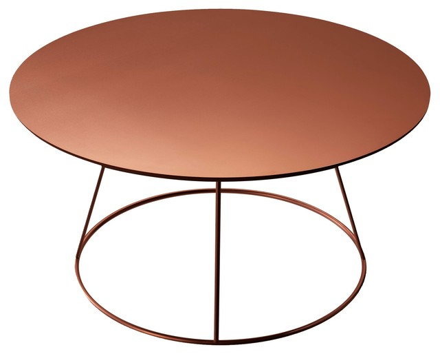 Breeze table copper modern coffee tables by skandium for Table y copper