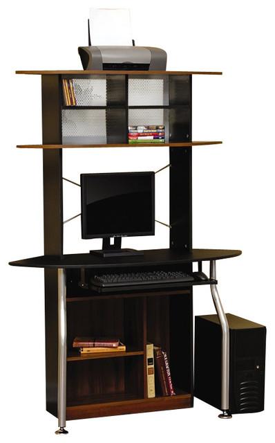studio rta corner computer desk in black and maple modern desks and