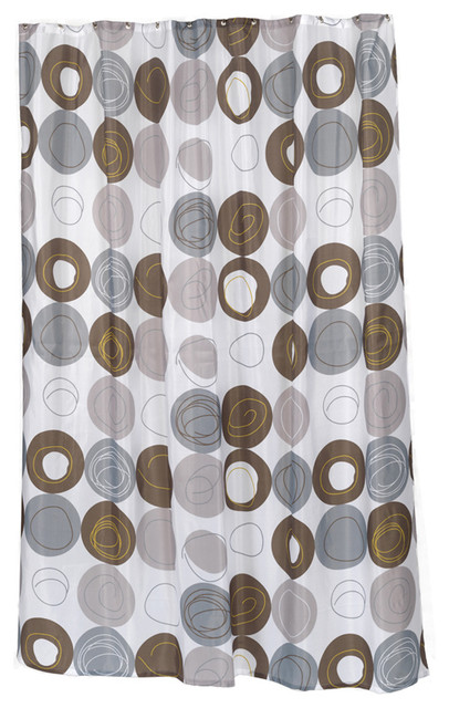 ... Extra Long Madison Fabric Shower Curtain contemporary-shower-curtains