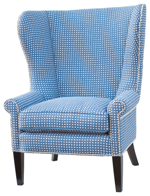 Wingback chair light blue contemporary armchairs and accent chairs