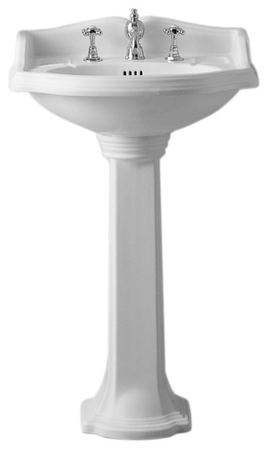 China Series Small Traditional Pedestal - Traditional - Bathroom Sinks ...