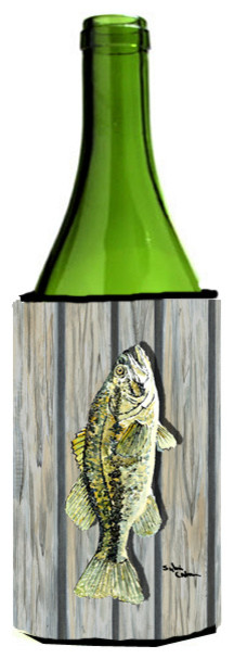 Fish Bass Wine Bottle Koozie Hugger - Beach Style - Drink ...