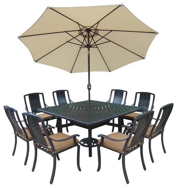 Contemporary Outdoor Dining Set 92