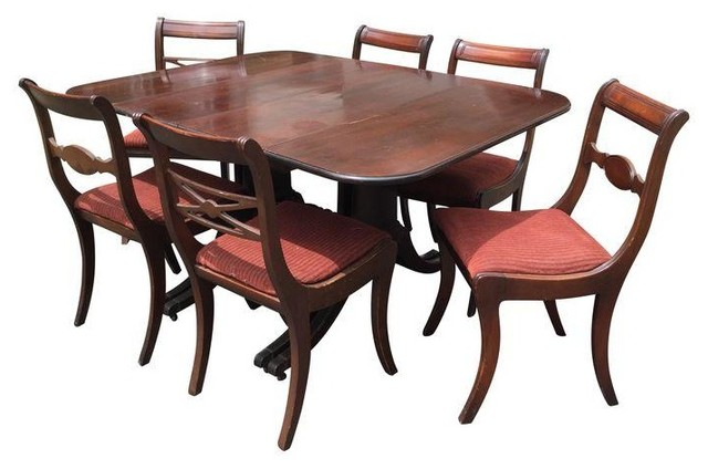 Duncan Phyfe Dining Set Table amp 6 Chairs Traditional