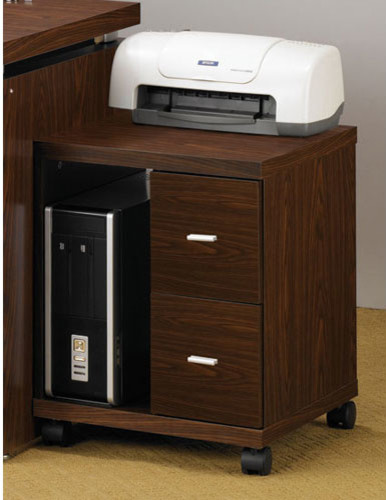 Peel Brown Two Drawer Computer Stand - Contemporary - Filing Cabinets ...