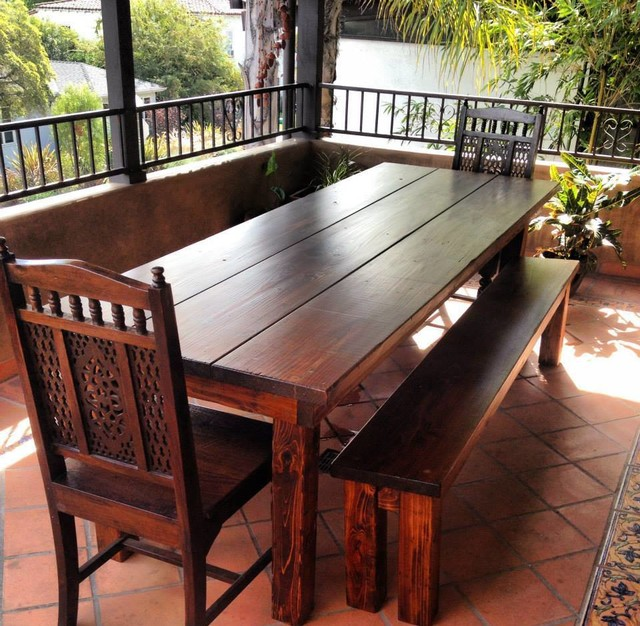 8ft outdoor farmhouse dining table rustic dining tables los angeles by saint arbor. Black Bedroom Furniture Sets. Home Design Ideas