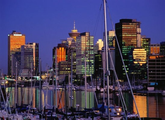 vancouver twilight photo wall mural contemporary wallpaper