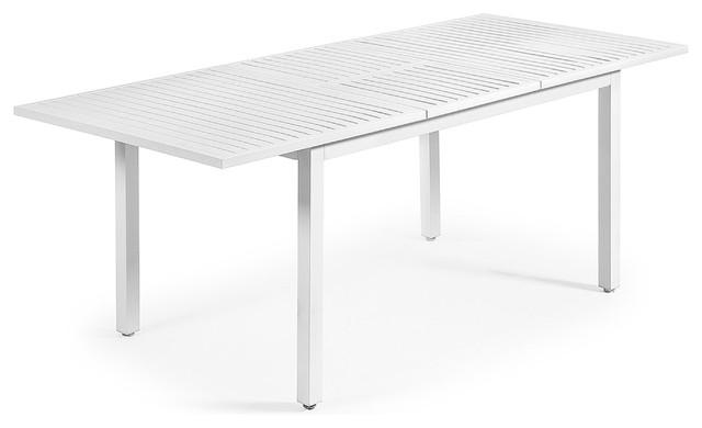 Mesa de exterior extensible en aluminio color blanco moderne table de jardin other metro - Table jardin moderne dijon ...