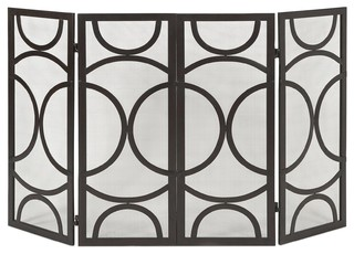 Imax winnoa fireplace screen contemporary fireplace screens by modum decor - Choosing the right contemporary fireplace screens ...