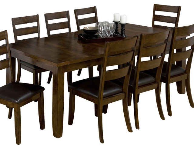 Jofran 337 84 Tyler Brown Cherry Rectangular Dining Table  : traditional dining tables from www.houzz.com size 640 x 492 jpeg 76kB
