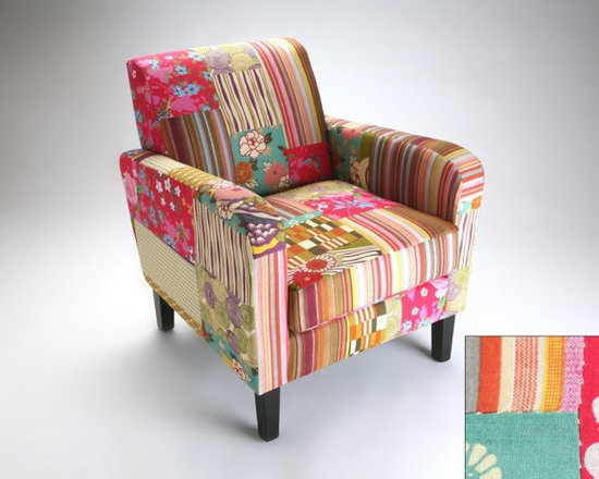 Inside 75 Funky Fauteuil Patchwork Avec Accoudoirs Rio