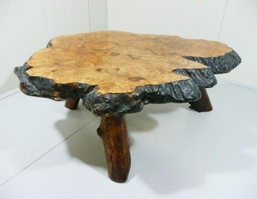 Holzstamm Couchtisch aus Kanada, 1960er  MidCentury