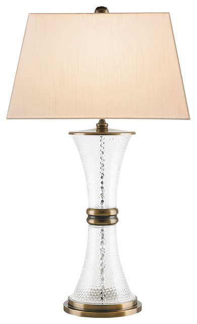 Currey Company Serenade Clear Glass Table Lamp 6727 Transitional Table Lamps By Benjamin