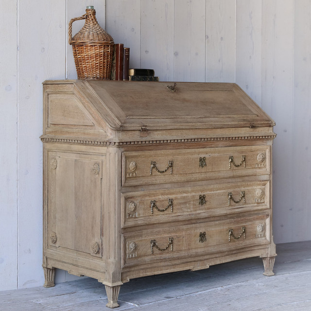 Eloquence One of a Kind Antique Writing Secretary Old French Oak - Modern - Desks And Hutches ...