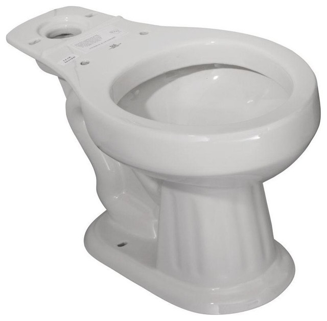 aberdeen round front toilet bowl only white traditional