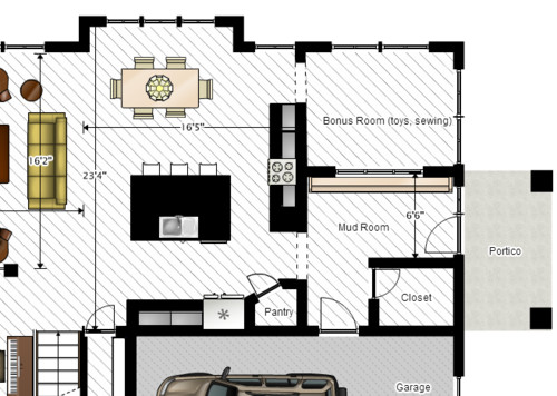 Help me make this kitchen layout more efficient for Most efficient kitchen layout