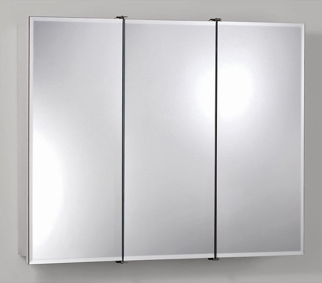 Broan-Nutone Ashland Tri-View 36W x 28H in. Surface Mount Medicine Cabinet 75528 - Contemporary ...