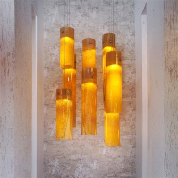 Galillee Fused Glass Pendant Light - Contemporaneo - Lampade a sospensione