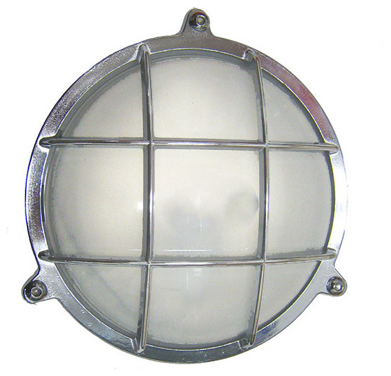 Round Interior Wall Lights : Round Cage Light with Screws (Solid Brass; Interior / Exterior by Shiplights) - Beach Style ...