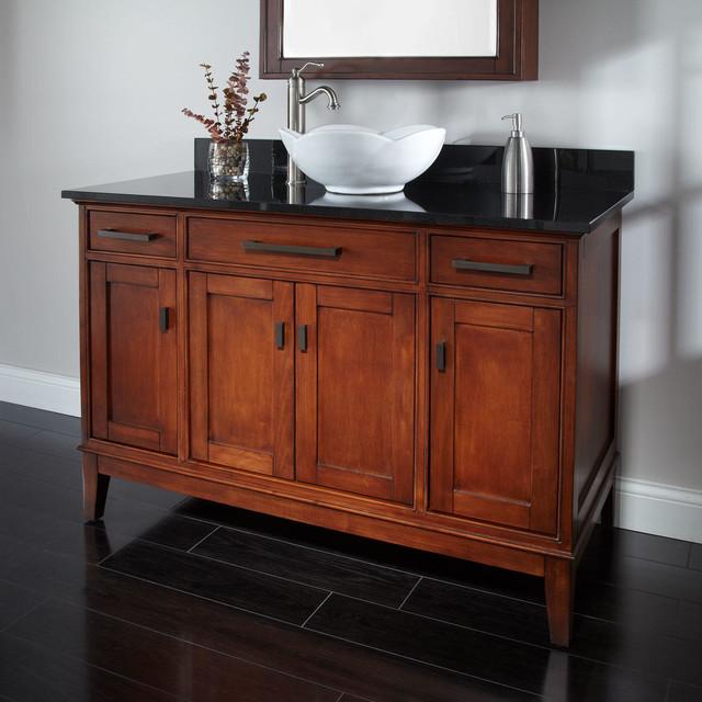 48 Tobacco Madison Vessel Sink Vanity Rustic Bathroom Vanity Units