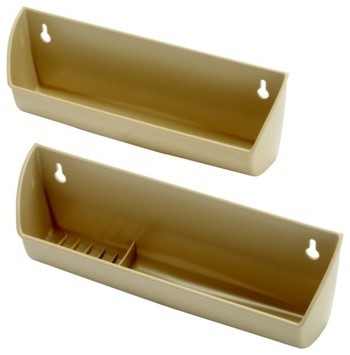 """Sink Tilt-Out Tray Set, With Hinges, Plastic, Maple, 14"""" - Traditional - Hinges - by Hafele ..."""