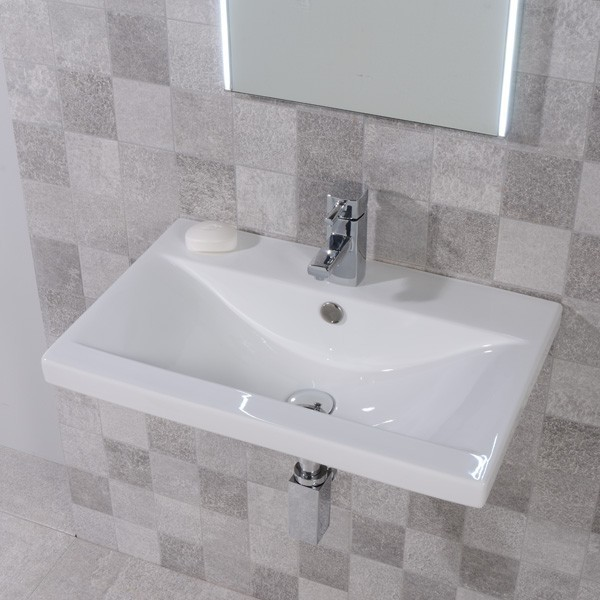 Auckland 500mm Wall Mounted Basin Modern Bathroom Sinks North West By