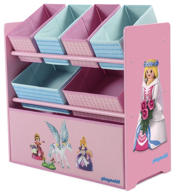 playmobil tag re rose avec 7 casiers de rangement contemporain rangement pour jouets par. Black Bedroom Furniture Sets. Home Design Ideas