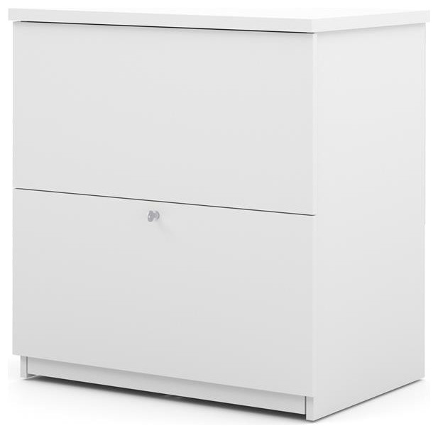 Bestar Standard Lateral File, White - Contemporary - Filing Cabinets - by Beyond Stores