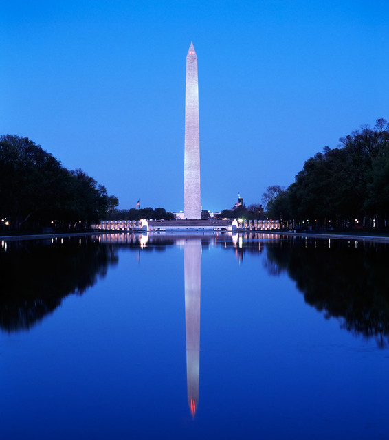 Washington monument reflecting pool night wall mural for Pool design washington dc