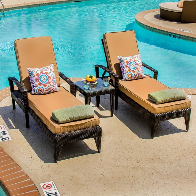 Providence 2 person resin wicker patio chaise lounge set for 2 person outdoor chaise lounge
