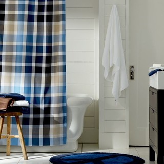 Palmer Plaid Shower Curtain Traditional Shower Curtains By Pbteen