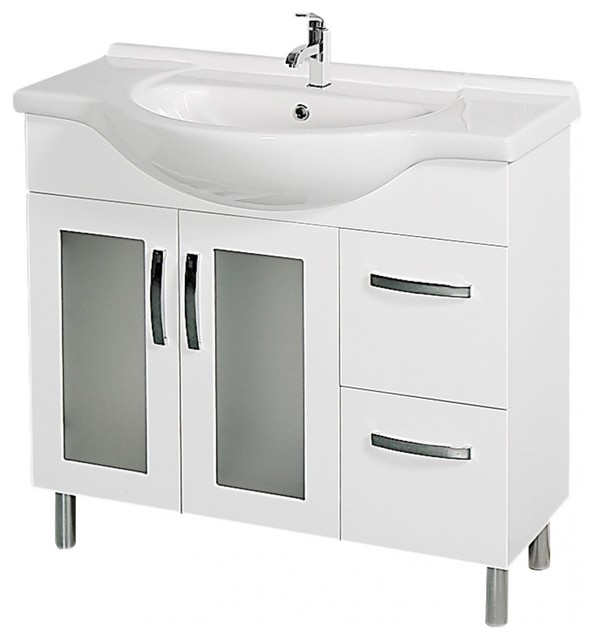 43 Inch Single Sink Bathroom Vanity With Leather Uvcac11242755433343