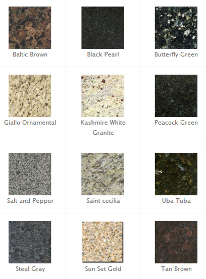 Beautiful Granite Countertop Choices Contemporary Home