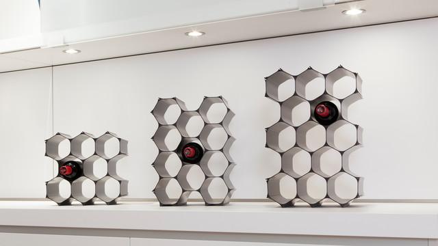 Countertop Winehive Modular Wine Racks Modern