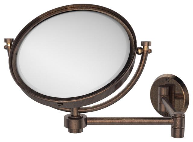 """Bronze Wall Mirror: 8"""" Wall Mirror Extends 14"""" 5x, Venetian Bronze"""