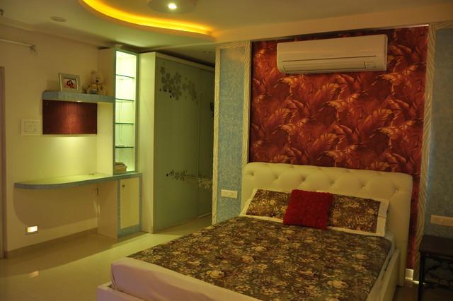 Residence in hyderabad for Bedroom cupboard designs in hyderabad
