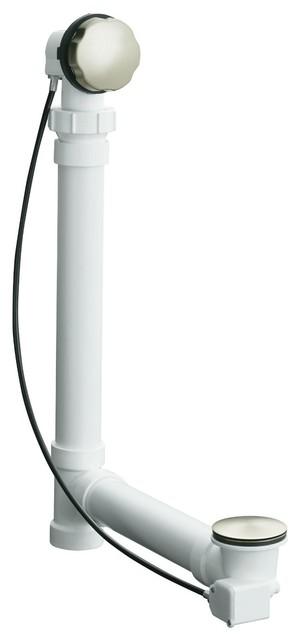 Kohler K 7213 Bn Clearflo Cable Bath Drain Vibrant Brushed Nickel Modern Bathroom Sink And