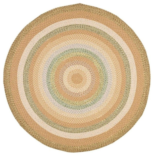 Braided multicolored round rug 6 ft contemporary for Round contemporary area rugs