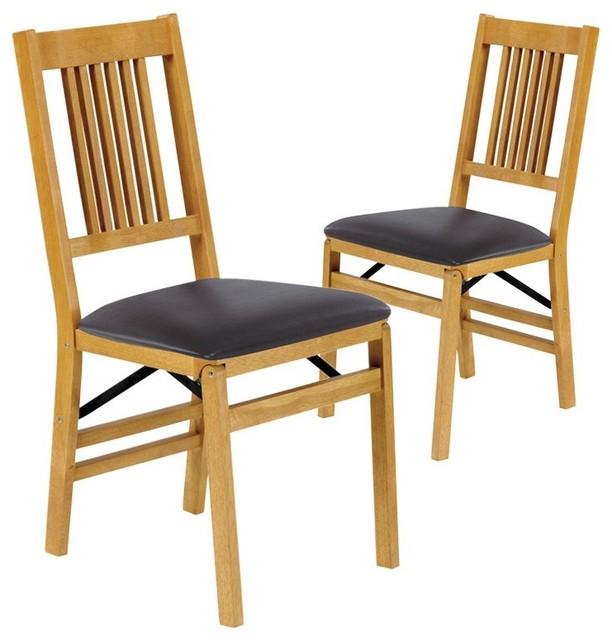 Meco True Mission Upholstered Folding Chair Set of 2 4533VFWBLACK Conte