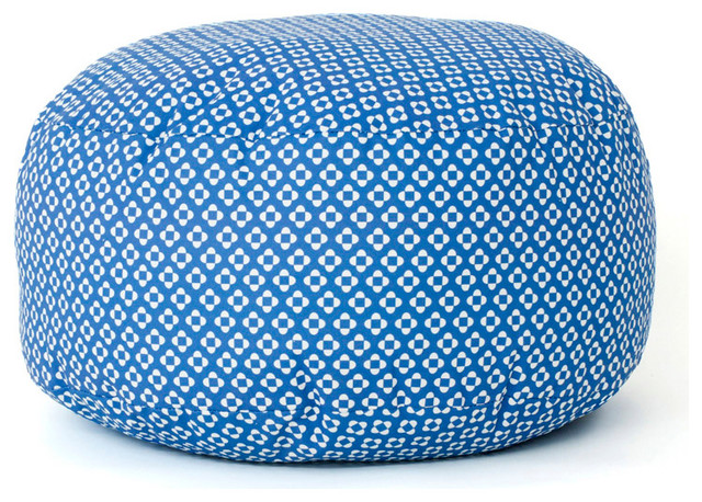 pouf xl bleu contemporary scatter cushions other metro by paparajote factory. Black Bedroom Furniture Sets. Home Design Ideas